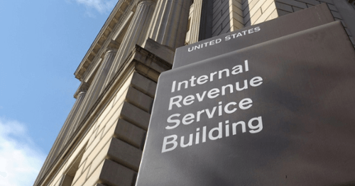 Internal Revenue Service Building Sign